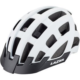 Lazer Compact Deluxe Cykelhjelm, matte white